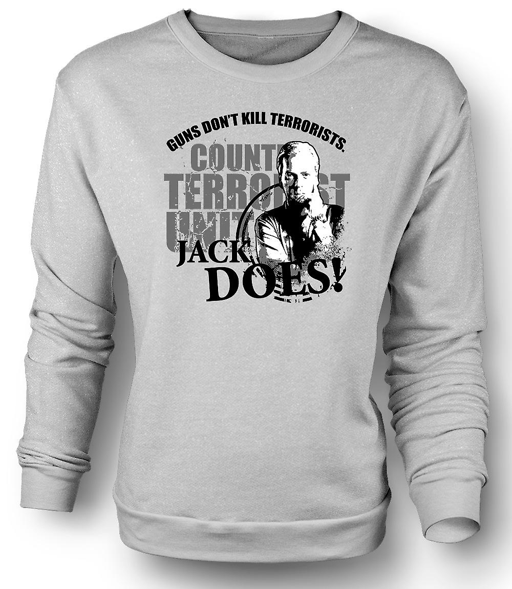 Mens Sweatshirt Jack Bauer 24 Guns Don't Kill - Funny