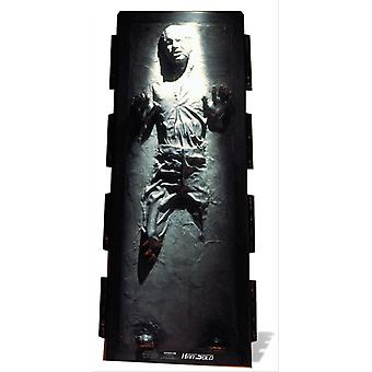 Han Solo in Carbonite Star Wars Lifesize Pappausschnitt / Standee / Standup