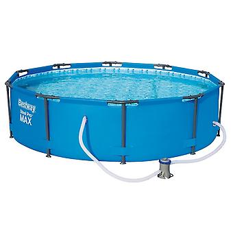 Bestway 10ft x 30 inch Steel Pro Max Frame Pool Set With Filter Pump Blue