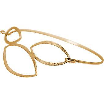 Bracelet GEMSHINE YOGA Lotus Flowers. 925 argent, plaqué or de haute qualité, plaqué or rose