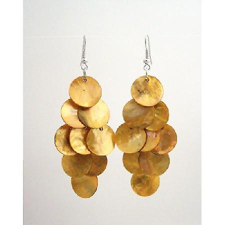 Harvest Shell Chandelier Earrings Sexy Mop Shell Dangle Earrings