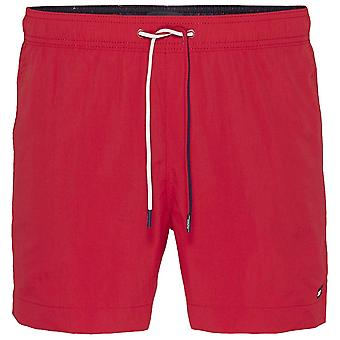 Tommy Hilfiger Medium Drawstring Swim Shorts, Tango Red, Medium