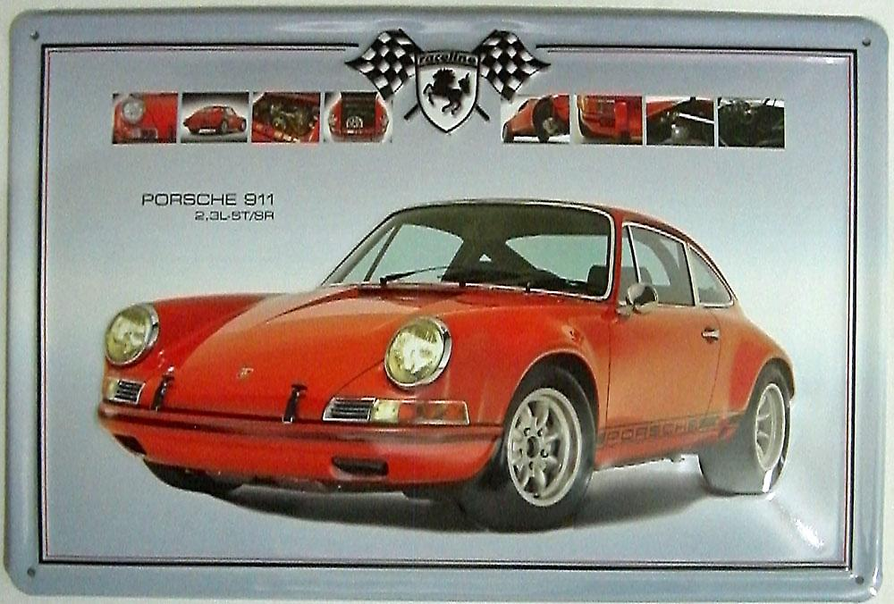 Porsche 911 2.3 embossed steel sign (hi 2030 lscape)