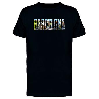 Barcelona Travel Lovers Quote Tee Men's -Image by Shutterstock