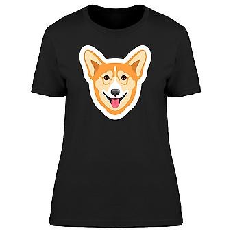 Glücklich Corgi Aufkleber T-Shirt Frauen-Bild von Shutterstock