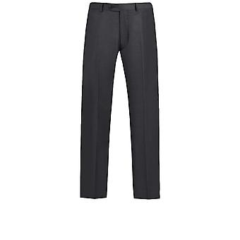 Dobell Mens Charcoal Suit Trousers Regular Fit