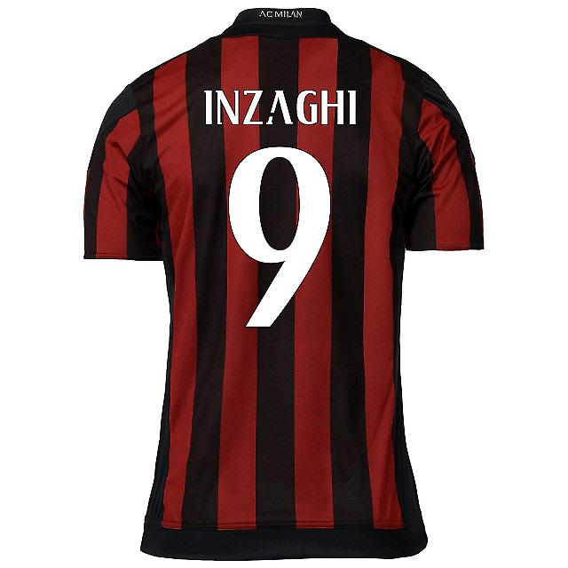 2015-16 AC Milan Home Shirt (Inzaghi 9) - Kids