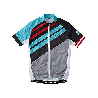 Madison Blue Stripes 2016 Sportive Full-Zip Short Sleeved Cycling Jersey