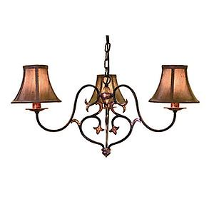 Elstead CN3 BUR/GOLD Coniston Traditional Forged Steel 3 Arm Chandelier