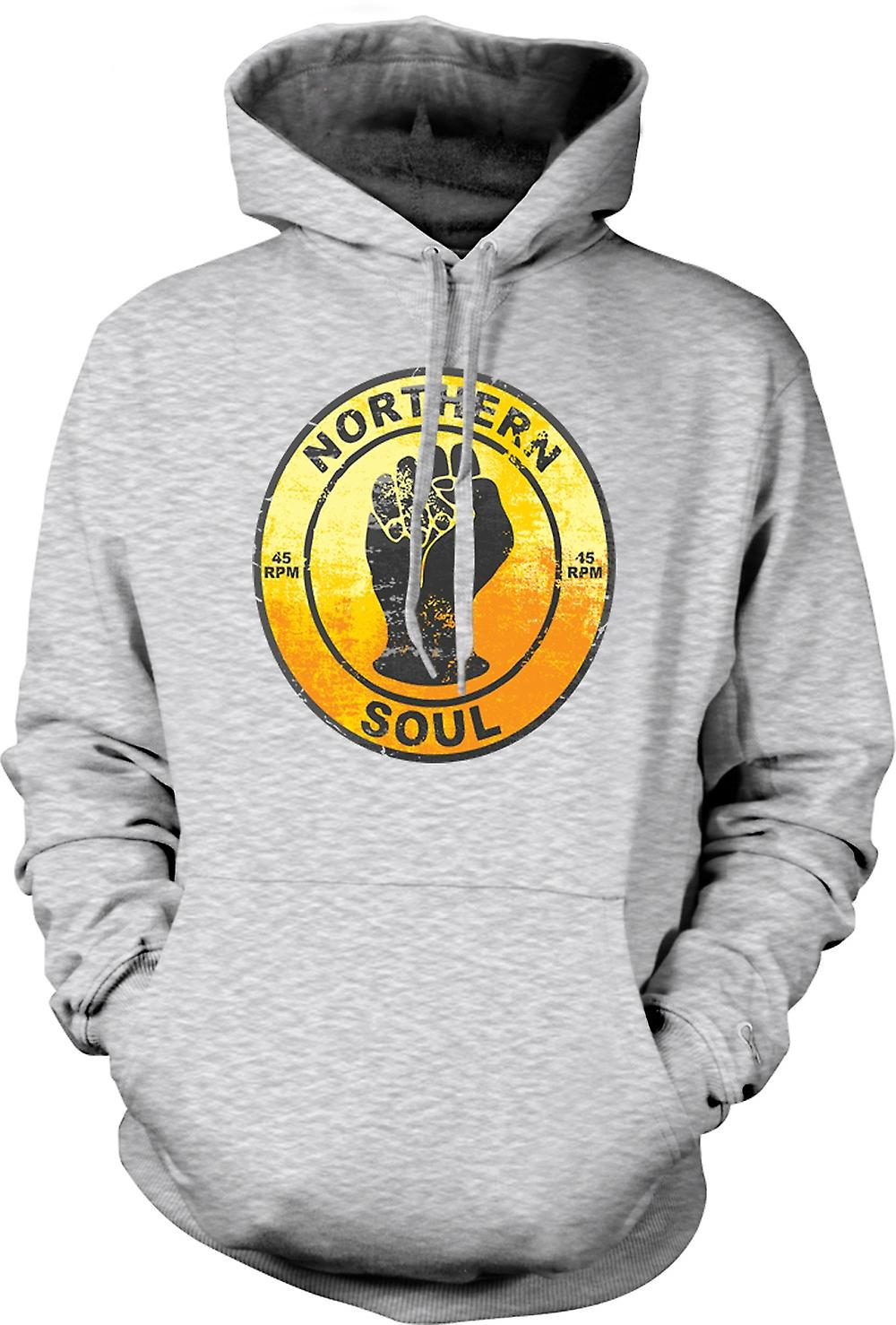 Mens Hoodie - Northern Soul - Vinyl Music