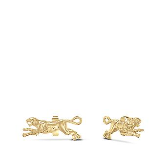 University Of Pittsburgh - Pitt Panther Stud Earrings In 14K Yellow Gold