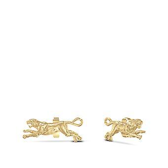 University of Pittsburgh-Pitt Panther stud örhängen i 14K gult guld