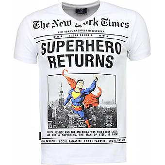 SuperHero Returns-T-shirt-White