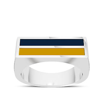 University Of Notre Dame - Enamel Ring In Blue And Yellow
