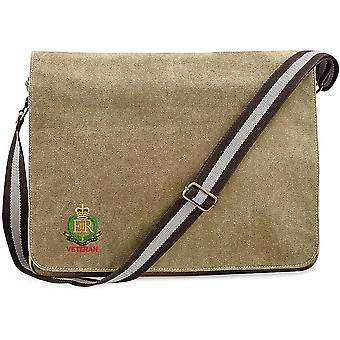 Royal Military Police Veteran - Concesso in licenza British Army Ricamato Vintage Tela Spedizione Messenger Bag