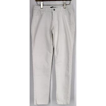 Kate et Mallory Jeans Slim Leg Jean Five Pockets White Womens A423686