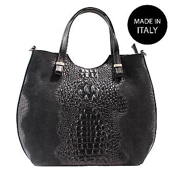 Leather shoulder bag Made in Italy 80046-1