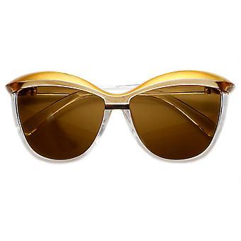 Damskie przewymiarowany okulary oko kot moda dwukolorowe