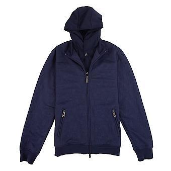Armani Jeans Embossed Hoody Jacket Blue