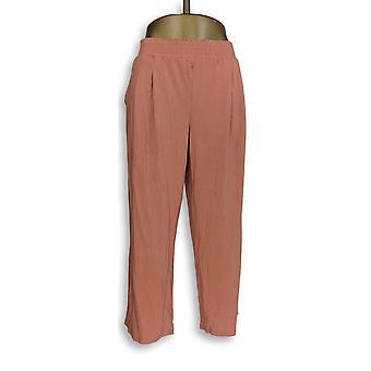 Anyone Women-apos;s Petit Lounge Pants, Sleep Shorts LP Cozy Knit Orange A347173