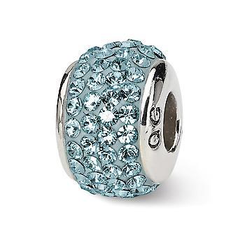 925 hopeinen kiillotettu heijastukset joulu kuuta koko kristalli helmi charmia