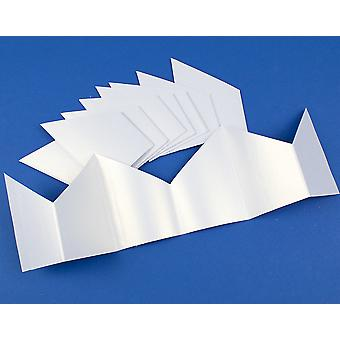 10, 30 or 100 Pearlescent White Paper Hats for DIY Christmas Cracker Crafts