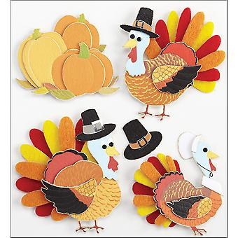 Jolee's Boutique Dimensional Stickers Turkey Characters E5020959