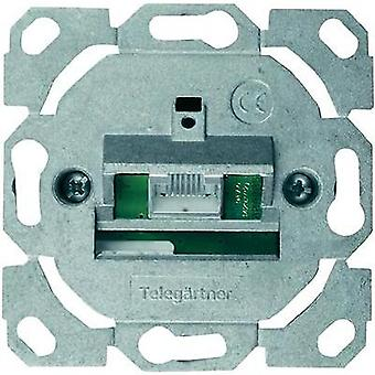 Network outlet Flush mount Insert CAT 6 1 port Telegärtner