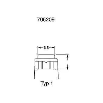 Pushbutton 24 Vdc 0.05 A 1 x Off/(On) MEC 3CSH9 SMD-Ausführung IP67 momentary 1 pc(s)