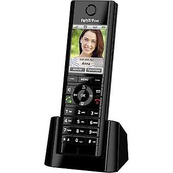 Cordless VoIP AVM Hands-free, Babyphone, Headset connection Colour Black