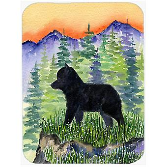 Schipperke Glass Cutting Board Large