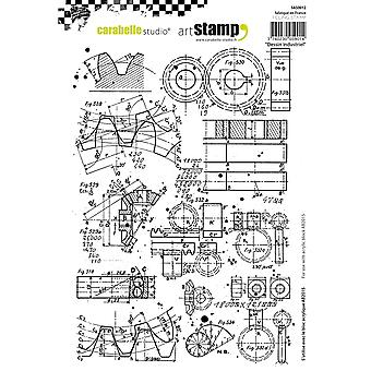 Carabelle Studio Cling Stamp A5-Industrial Design SA50012