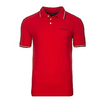 Pierre Cardin tipped Polo T-Shirt men's Polo Shirt red