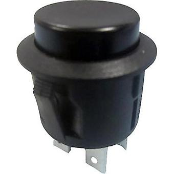 Pushbutton switch 250 Vac 6 A 1 x On/Off SCI R13-527B-02 BLACK KNOB latch 1 pc(s)