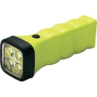 AccuLux rechargeable battery torch Four LED EX 417222 Nichia LED 5 mm 12 hrs Yellow