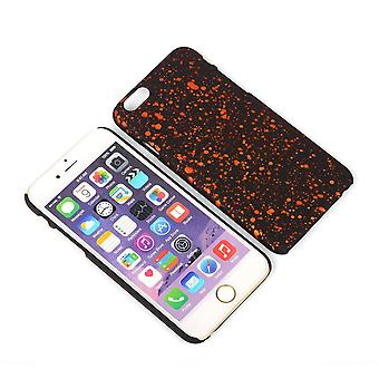 Cell phone cover case bumper shell for Apple iPhone 6 plus 3D star Orange