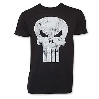 Sort nødlidende Punisher kranium Logo T-Shirt