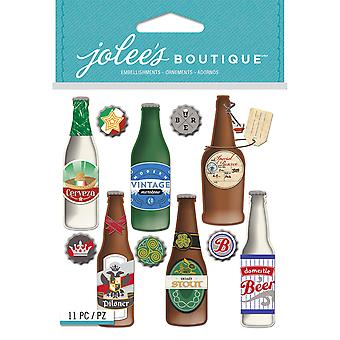 Jolee's Boutique Dimensional Stickers-Beer Bottles E5021948