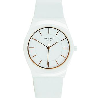 Bering Unisex Watch wristwatch slim ceramic - 32035-656 leather