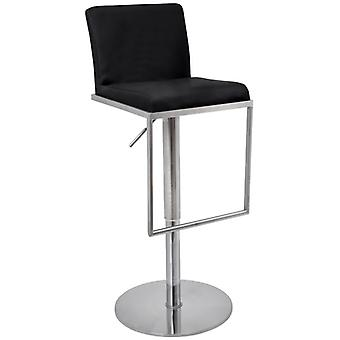 Barcey Brushed Steel Bar Stool