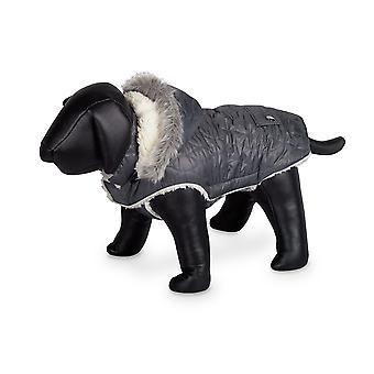 Nobby Polar Dog Coat Grey With Hood 48cm
