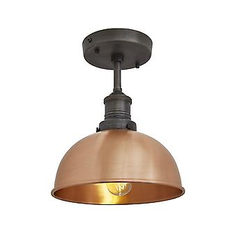 Brooklyn Vintage Small Metal Dome Flush Mount Light - Copper - 8