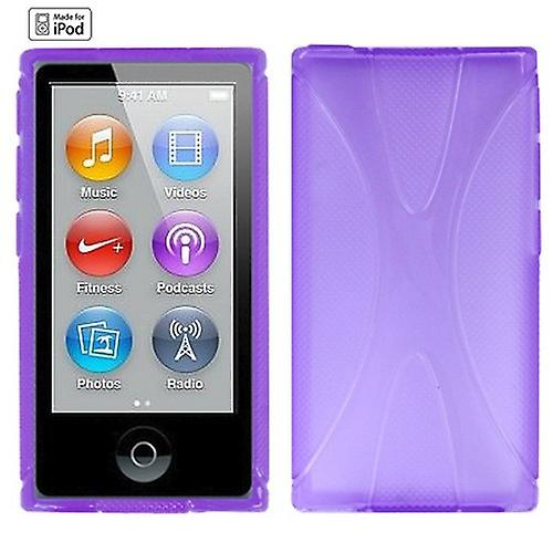 Silicone cover x-line purple for Apple iPod nano 7