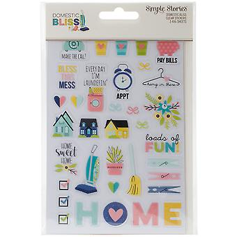 Domestic Bliss Clear Stickers 4