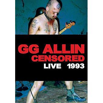 Gg Gg-censureret/Uncensore [DVD] USA importerer