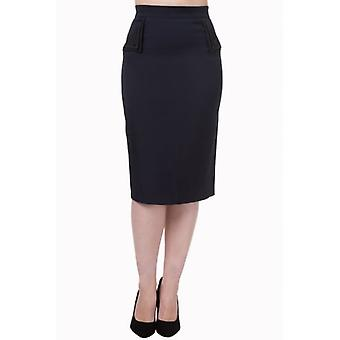 Banned Apparel Banned Apparel 50's Style Wiggle Pencil Skirt