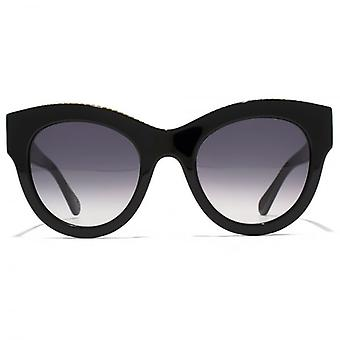 Stella McCartney Falabella Bold Chain Cateye Sunglasses In Black