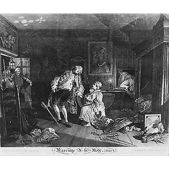 William Hogarth - The Death of the Earl Poster Print Giclee