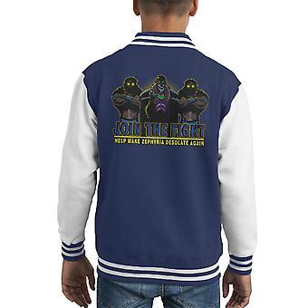 Delta Vulchazor sønn av Zorn barneklubb Varsity jakke