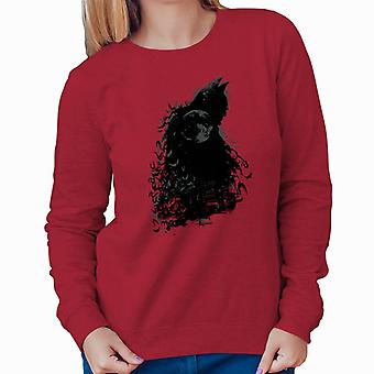 Batman Dark Knight Silhouette Moon Damen Sweatshirt